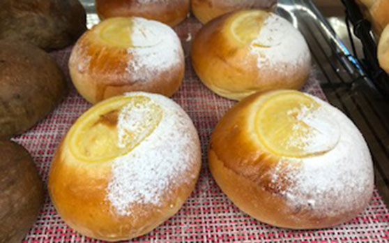 レモンのクリームパン